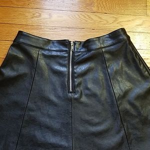 H&M Skirts - H&M Faux Leather Mini skirt size 8